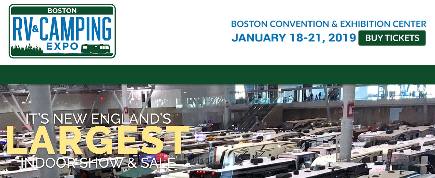 2019 Boston Rv Amp Camping Expo Show Jan 18 21 2019 ⋆ New