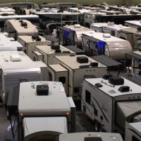 Three football fields of motorhomes and trailers!